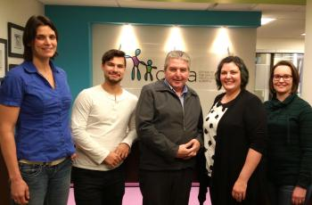 RCY team with Del Graff (centre), Alberta Child and Youth Advocate
