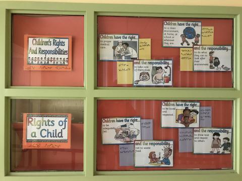 Impressive display of children's rights and responsibilities at the Quqshuun Ilihakvik Elementary School in Gjoa Haven!