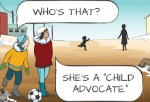 An Advocate Visits - The Comic Strip